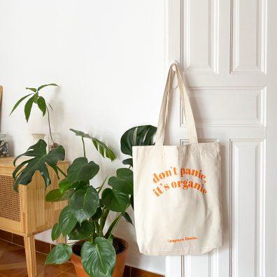 Don't Panic It's Organic – tote bag